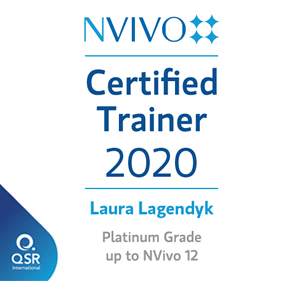 NVivo Certified Platinum Trainer 2020 - Laura Lagendyk